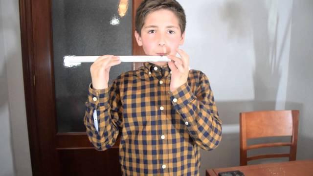 flauta de caña para niños