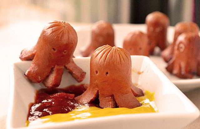 salchipulpos pulpos de salchichas para fiesta de cumpleaños