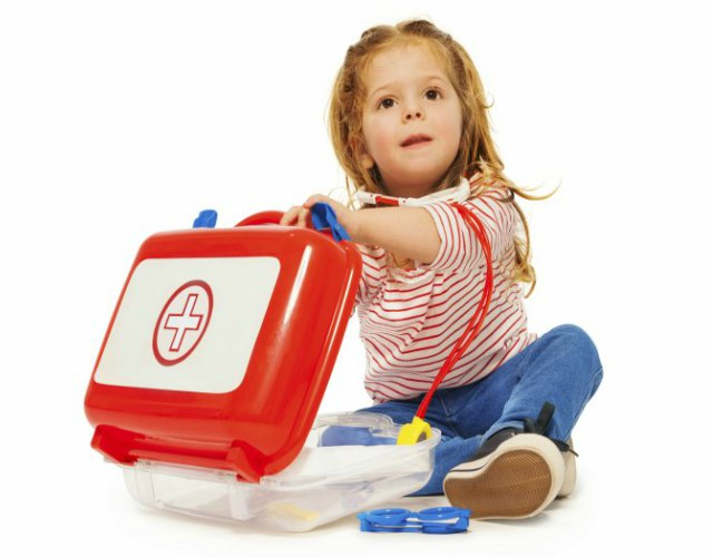 botiquín de primeros auxilios para bebés.
