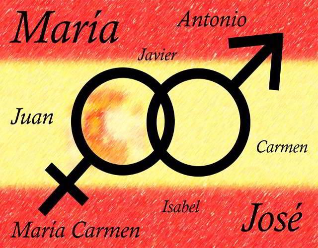 nombres más utilizados en España
