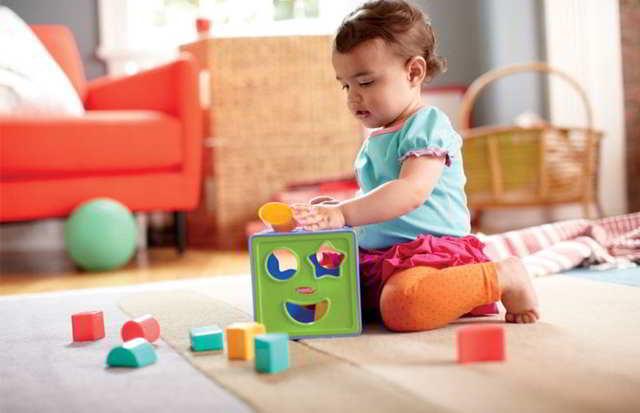 juegos de figuras geométricas para bebés de 9 meses