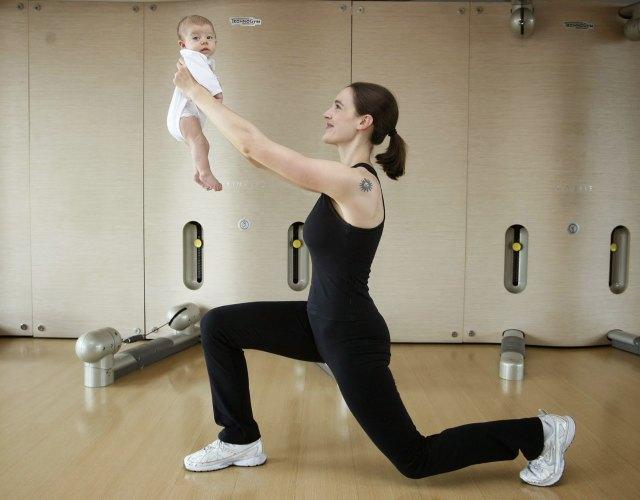ejercicios con bebé