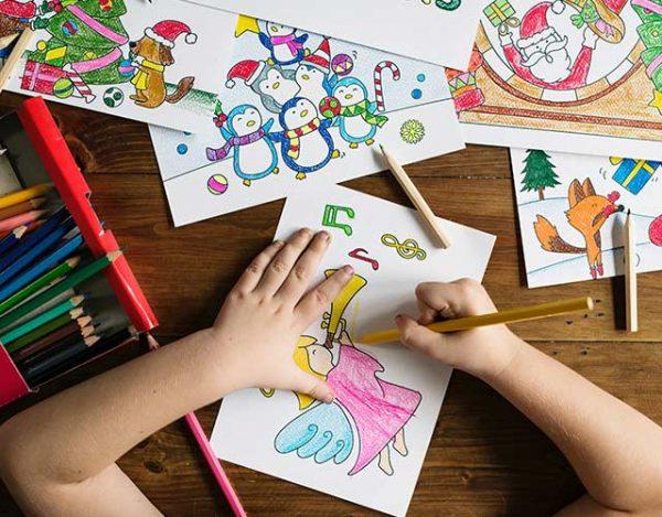 Algunos dibujos de navidad para pintar