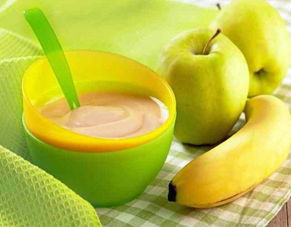 puré de manzana para bebés