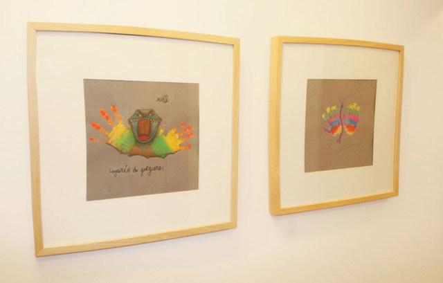 cuadros con manos de niños