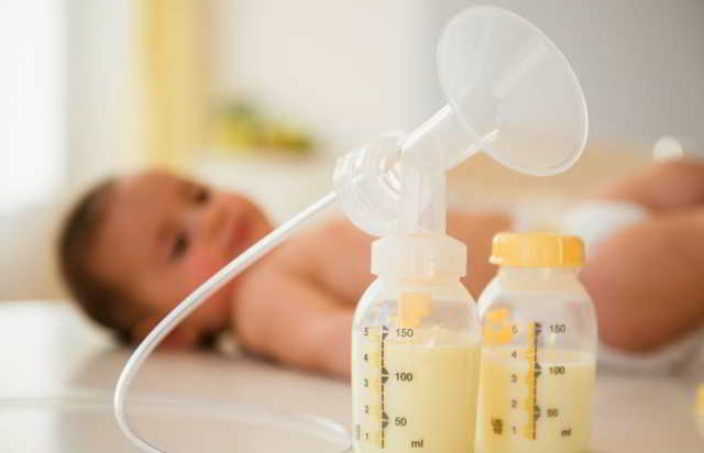 extracción de leche materna