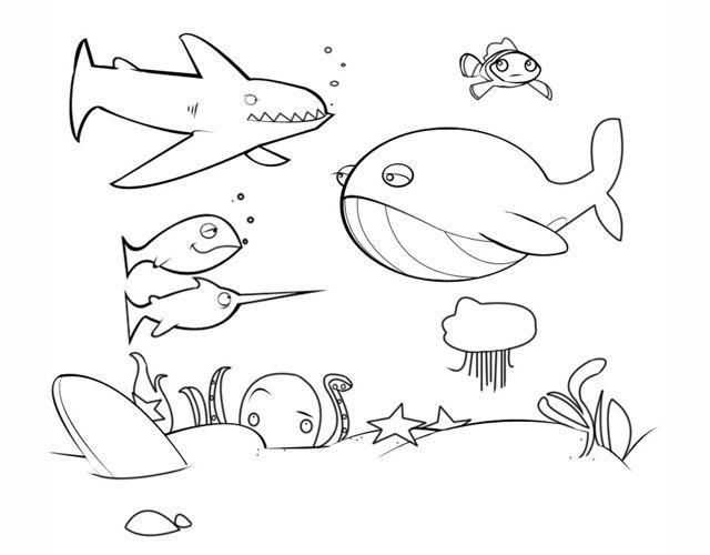 Dibujos De Animales Del Mar Para Colorear Descargar Pdf