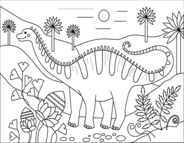 dibujos de dinosaurios para colorear 2