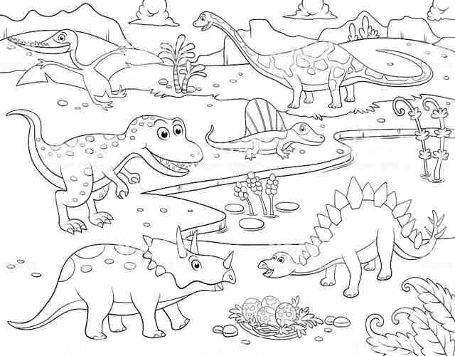 dibujos de dinosaurios para colorear 3