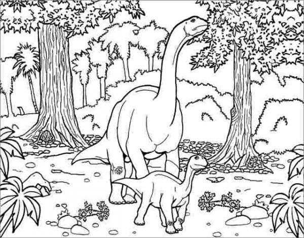Dibujos De Dinosaurios Para Colorear