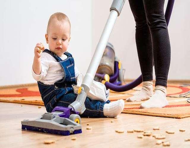 La higiene del hogar cuando hay un bebé