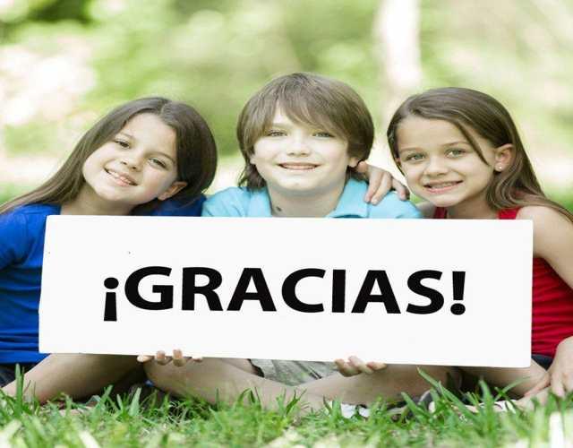 enseñar a los niños a dar gracias