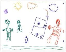 Etapa pre-esquemática en desarrollo del dibujo en el niño